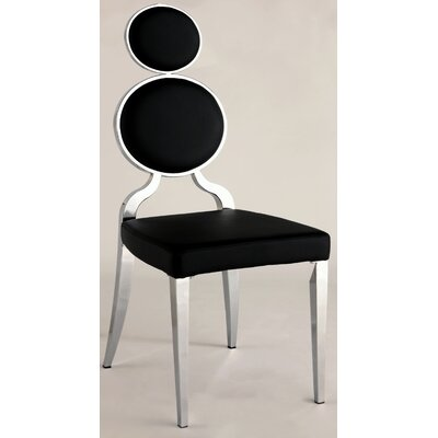 Oprah Side Chair (Set of 2) Upholstery: Black
