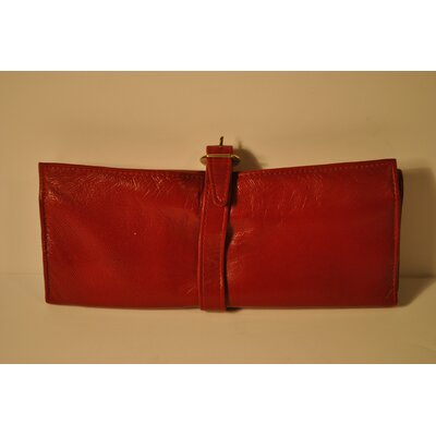 Jewelry Pouch Color: Red With Black