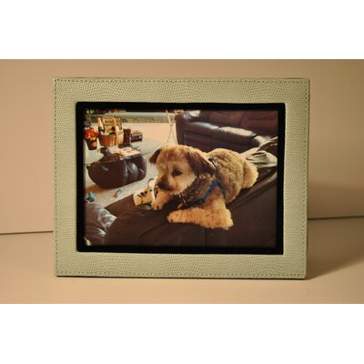 Lizard Leather Picture Frame Color: Blue 542057L-11