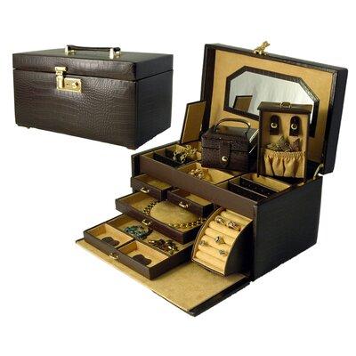 Croco Grain Small Jewelry Box