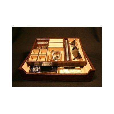 Croco Accessory Tray Color: Brown