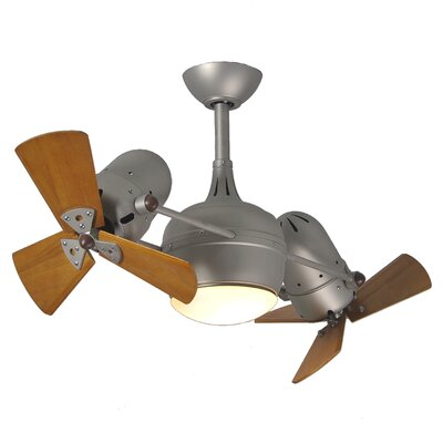 41 Valerian 6-Blade Dual Ceiling Fan with Wall Remote Finish: Brushed Nickel