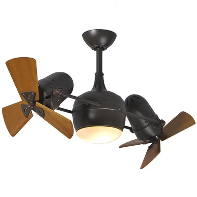41 Valerian 6-Blade Dual Ceiling Fan with Wall Remote Finish: Textured Bronze