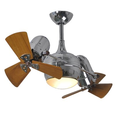 41 Dagny 6-Blade Dual Ceiling Fan with Wall Remote Finish: Polished Chrome