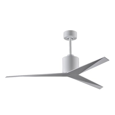 56 Eliza 3-Blade Ceiling Fan with Hand Held and Wall Remote Finish: White