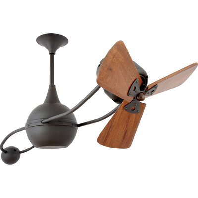 40 Brisa 2000 3 Wooden Blade Rotational Ceiling Fan Finish: Bronze, Damp Location: No
