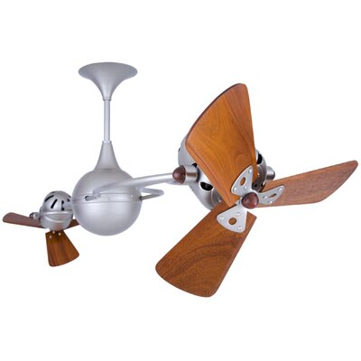 53 Italo Ventania 3 Blade Ceiling Fan Finish: Brushed Nickel