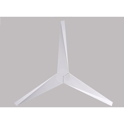 56 Eliza 3-Blade Hugger Ceiling Fan with Remote Finish: Brushed Nickel with White Blades