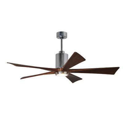 60 Patricia 5-Blade Ceiling Fan with Wall Remote Motor Finish: Textured Bronze