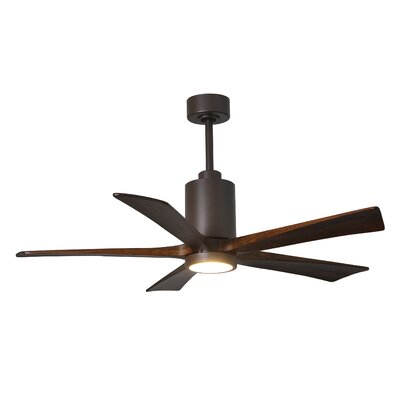 52 Patricia 5-Blade Ceiling Fan with Wall Remote Finish: Textured Bronze