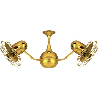 42 Vent Bettina 6  Blade Ceiling Fan Finish: Ouro