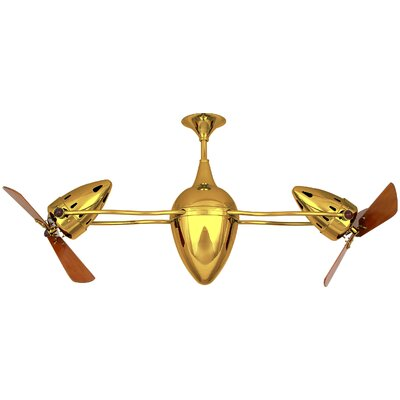 48 Ar Ruthiane 3 Blade Ceiling Fan Finish: Ouro
