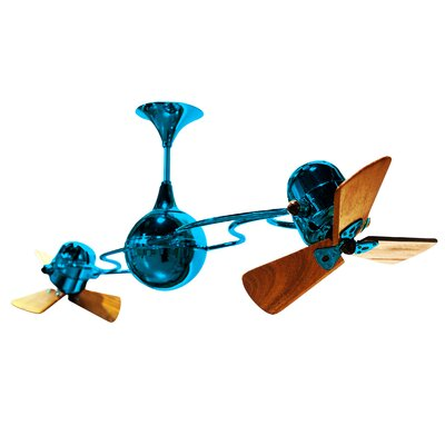 53 Italo Ventania 3 Blade Ceiling Fan Finish: Polished Brass