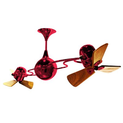 53 Italo Ventania 3 Blade Ceiling Fan Finish: Red