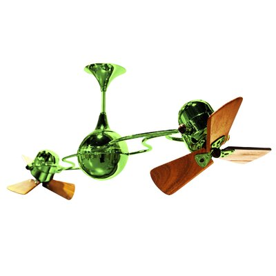 53 Italo Ventania 3 Blade Ceiling Fan Finish: Jade
