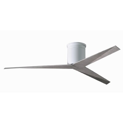 56 Hedin 3-Blade Hugger Ceiling Fan with Remote Finish: Gloss White Finish with Barn Wood Blades
