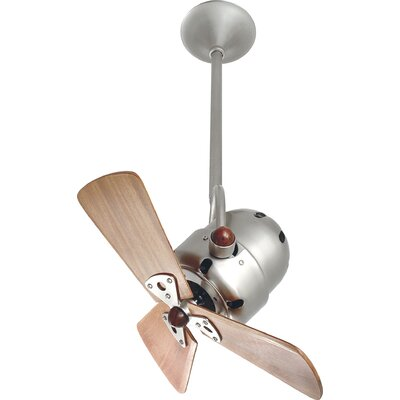 16 Bianca Directional 3 Blade Ceiling Fan Finish: Brushed Nickel, Accessories: 10 Downrod