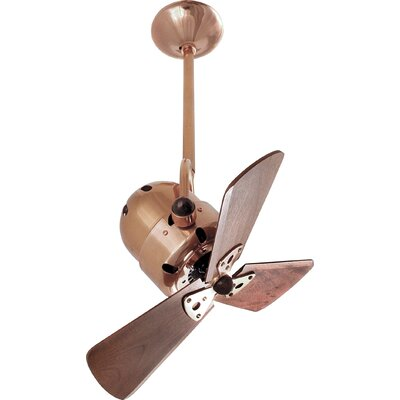 13 Bianca 3 Metal Blade Directional Outdoor Ceiling Fan Blade Finish: Mahogany, Finish: Brushed Copper