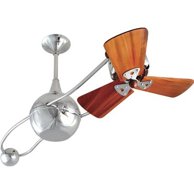 40 Brisa 2000 3 Wooden Blade Rotational Ceiling Fan Finish: Brushed Copper, Damp Location: No