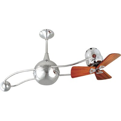 40 Brisa 2000 3 Wooden Blade Rotational Ceiling Fan Finish: Chrome, Damp Location: No
