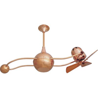 40 Brisa 2000 3 Wooden Blade Rotational Ceiling Fan Finish: Polished Copper, Damp Location: No