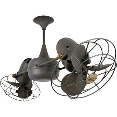 36 Duplo-Dinamico 6-Blade Ceiling Fan Finish: Bronze