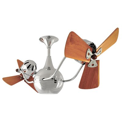 42 Vent-Bettina 3 Blade Ceiling Fan Finish: Chrome