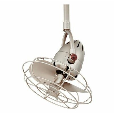16 Diane Oscillating 3 Metal Blade Ceiling Fan with Remote Finish: Brushed Nickel