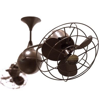 53 Italo Ventania 6 Metal Blade Ceiling Fan Finish: Brushed Copper, Damp Location: No