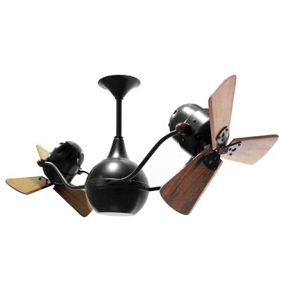 42 Vent-Bettina 3 Wooden Blade Ceiling Fan Finish: Rubi, Damp Location: No