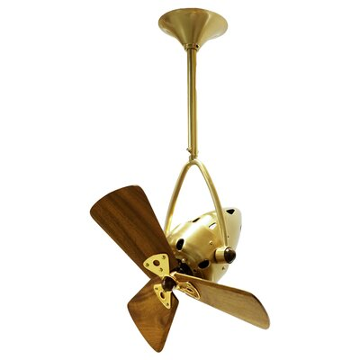 16 Jarold 3 Blade Ceiling Fan Finish: Brushed Brass