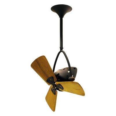 16 Jarold 3 Wooden Blade Ceiling Fan Finish: Bronze, Damp Location: No