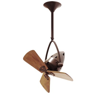 16 Jarold 3 Wooden Blade Ceiling Fan Finish: Brushed Copper, Damp Location: No