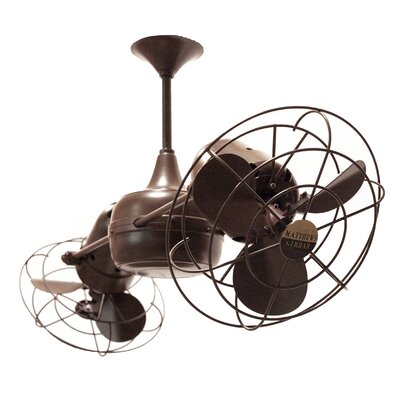 36 Duplo-Dinamico 6-Blade Ceiling Fan Finish: Bronzette