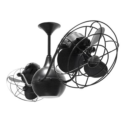 42 Vent Bettina 6  Blade Ceiling Fan Finish: Black