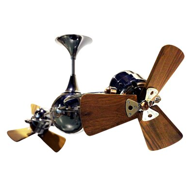 53 Italo Ventania 3 Wooden Blade Ceiling Fan Finish: Black Nickel, Damp Location: No
