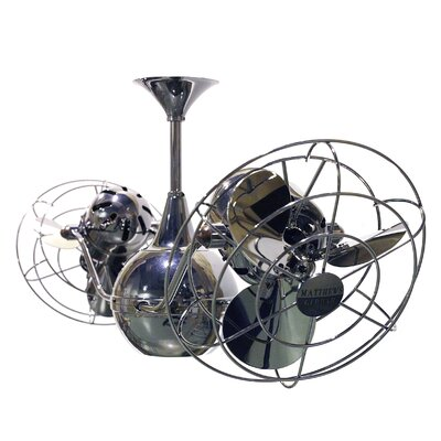 42 Vent Bettina 6  Blade Ceiling Fan Finish: Black Nickel