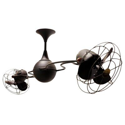 53 Italo Ventania 6 Metal Blade Ceiling Fan Finish: Bronze, Damp Location: No