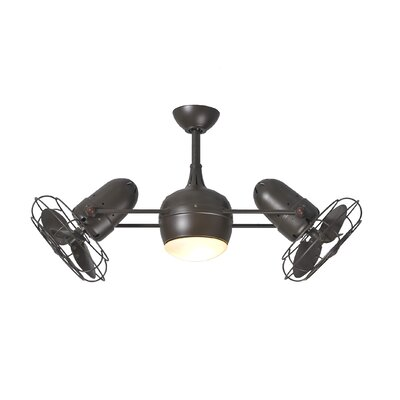 39 Valerian 6-Blade Dual Ceiling Fan with Wall Remote Finish: Textured Bronze