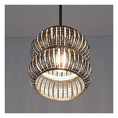 Secola 1-Light Pendant Size: Large, Drop: 17