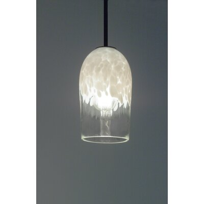 Rose 1-Light Mini Pendant Finish: Bronze, Shade Color: Clear White, Size: 35 H x 6 W x 6 D