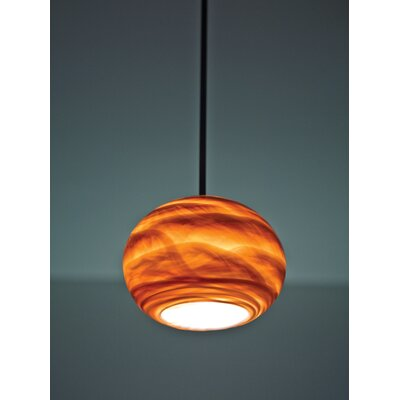 Rose 1-Light Globe Pendant Shade Color: Amber, Size: 15 H x 8 W x 8 D