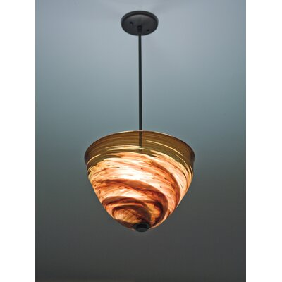 Rose 3-Light Bowl Pendant Size: 21 H x 16 W x 16 D