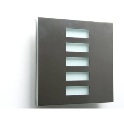 Basic Techo 1-Light Flush Mount Finish: Stainless Steel