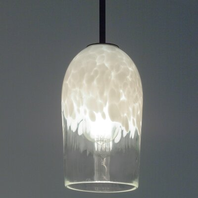 Rose 1-Light Drum Pendant Shade Color: Clear White, Size: 35 H x 6 W x 6 D