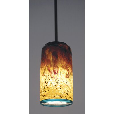 Whitney Cylinder 1-Light Pendant Finish: Bronze, Size: Tall, Drop: 14