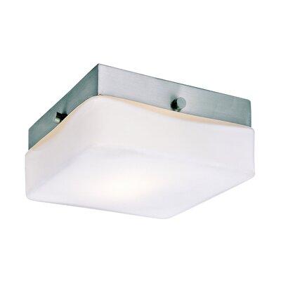 Square 1-Light Flush Mount Size: 5.75 Width