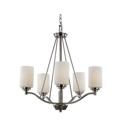 Juli 5-Light Shaded Chandelier Finish: Brushed Nickel