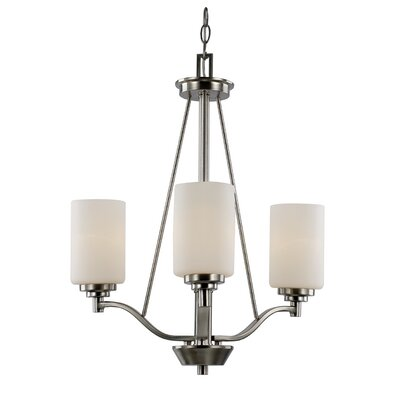 Juli 3-Light Shaded Chandelier Finish: Brushed Nickel