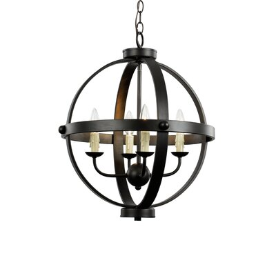 Old World Sphere 4-Light Globe Pendant